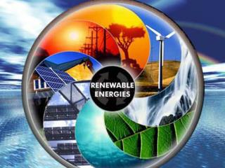 Various kinds of renewable energies