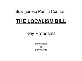 Bolingbroke Parish Council