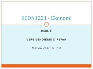 ECON1221 - Ekonomi