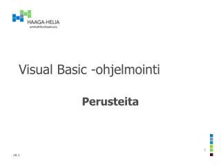 Visual Basic -ohjelmointi