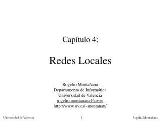 Cap tulo 4:  Redes Locales