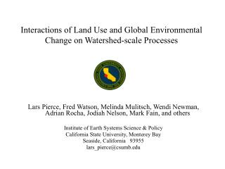 Interactions of Land Use and Global Environmental Change on Watershed-scale Processes
