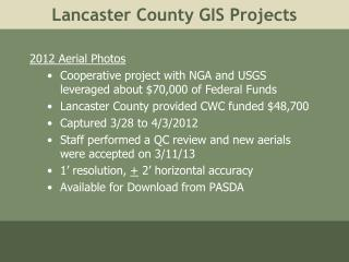 Lancaster County GIS Projects