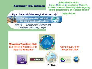 Libyan National Seismological Network @