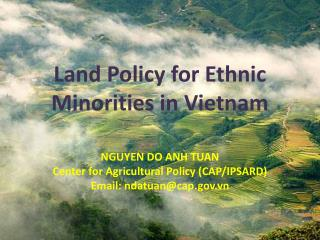 Land Policy for Ethnic Minorities in Vietnam