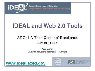 IDEAL and Web 2.0 Tools