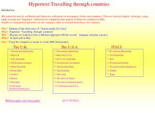 Hypertext:Travelling through countries