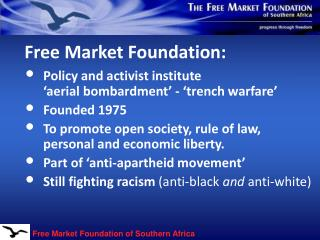 Free Market Foundation: