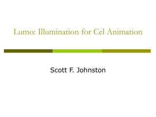 Lumo: Illumination for Cel Animation