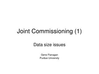 Joint Commissioning (1)