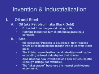 Invention & Industrialization