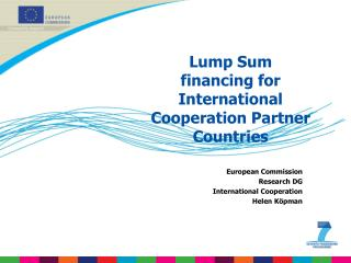 Lump Sum financing for International Cooperation Partner Countries