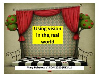 Using vision in the real world