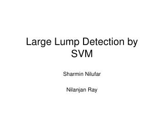 Large Lump Detection by SVM