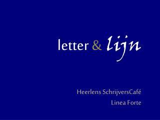 letter  & lijn