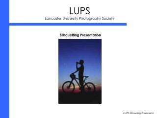 LUPS Lancaster University Photography Society
