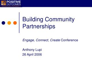 Building Community Partnerships