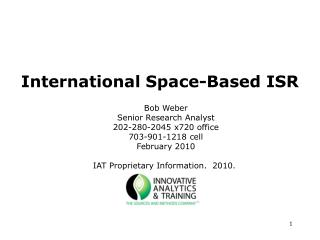 International Space-Based ISR