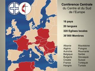 Conférence Centrale d u Centre et du Sud d e l'Europe