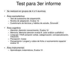 Test para 3er informe