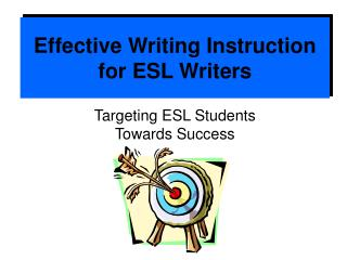 Effective Writing Instruction for ESL Writers