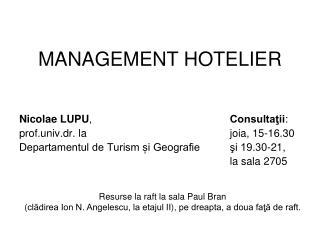 MANAGEMENT HOTELIER