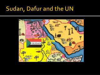 Sudan,  Dafur  and the UN