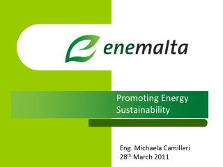Promoting Energy Sustainability