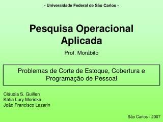 - Universidade Federal de São Carlos -