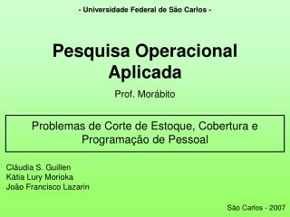 - Universidade Federal de S�o Carlos -