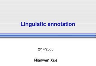 Linguistic annotation