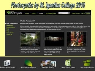 Photosynths by St. Ignatius College 2010