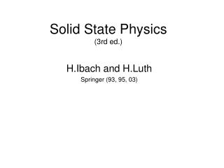 Solid State Physics (3rd ed.)