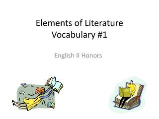 Elements of Literature Vocabulary 1