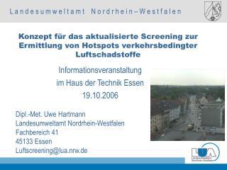 Informationsveranstaltung im Haus der Technik Essen 19.10.2006