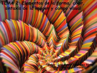 TEMA 2: Elementos de la forma, color, sintaxis de la imagen y campo visual