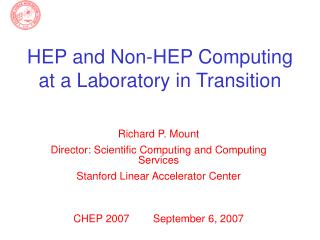 HEP and Non-HEP Computing at a Laboratory in Transition