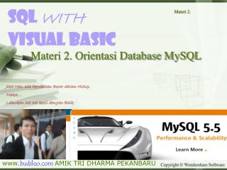 Sql  WITH Visual BasiC