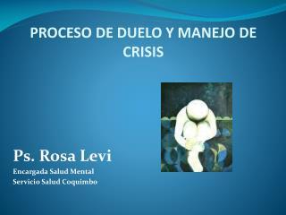 PROCESO DE DUELO Y MANEJO DE CRISIS