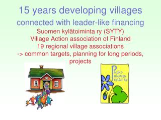 Village Development in the Lahti Region (Päijät-Häme)