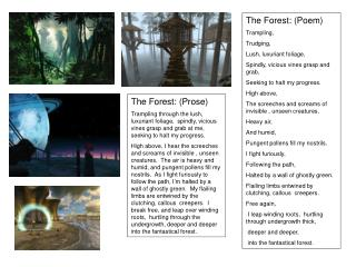 The Forest: (Prose)