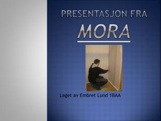 Presentasjon fra  Mora