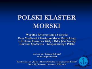 POLSKI KLASTER MORSKI