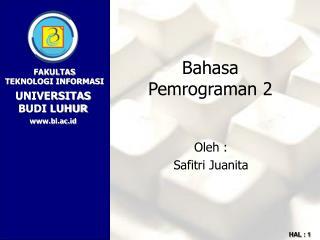 Bahasa Pemrograman 2
