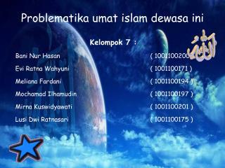 Problematika umat islam dewasa ini