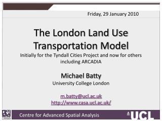 The London Land Use Transportation Model
