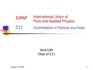IUPAP   C11