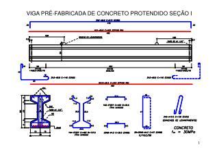 VIGA PRÉ-FABRICADA DE CONCRETO PROTENDIDO SEÇÃO I