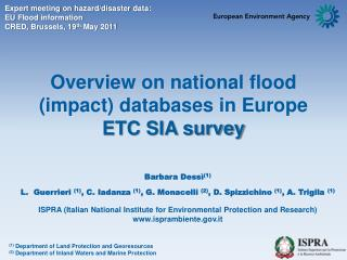 Overview on national flood (impact) databases in Europe  ETC  SIA survey