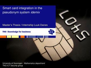 Master�s Thesis / Internship Luuk Danes